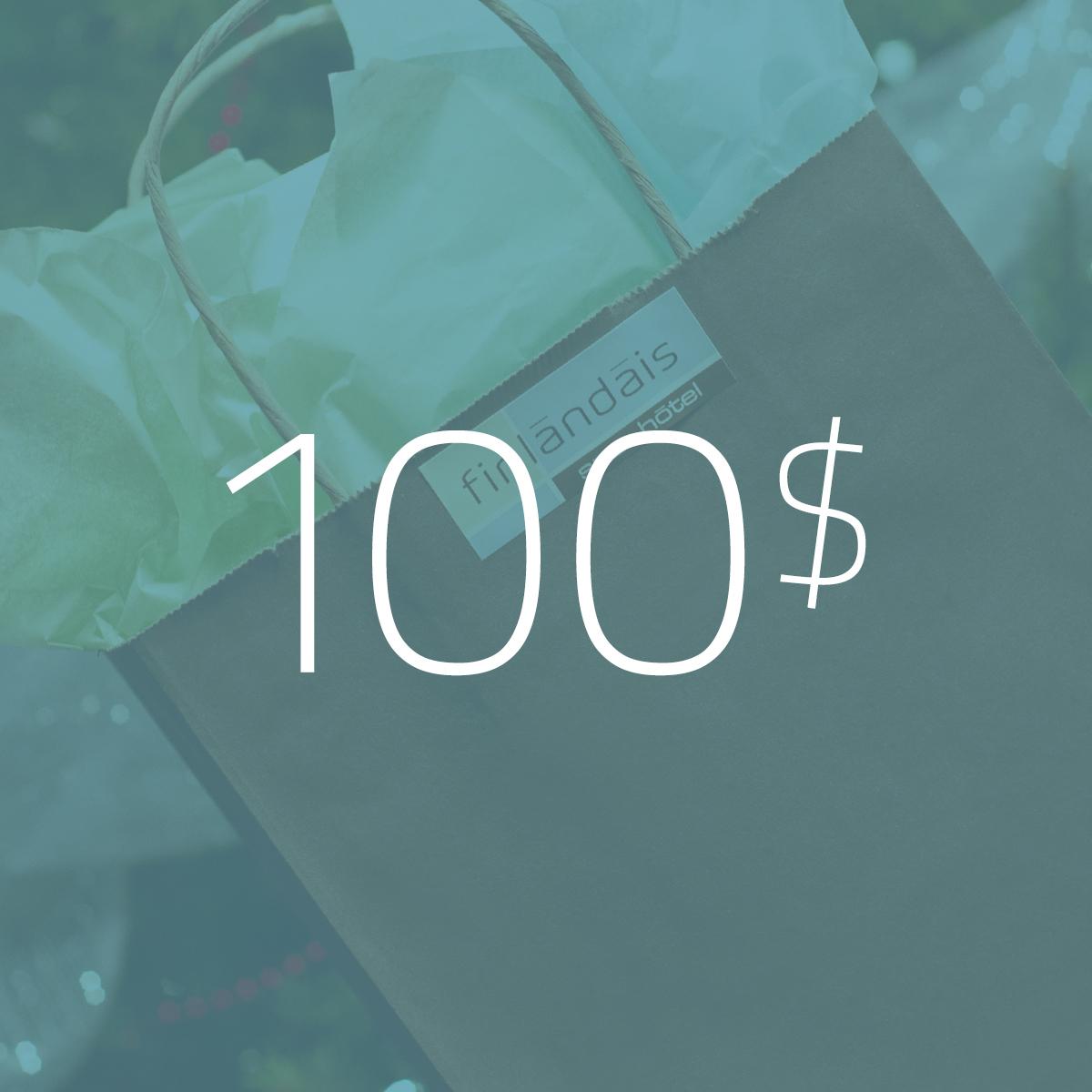 Les carte cadeau de 100$ du Finlandais