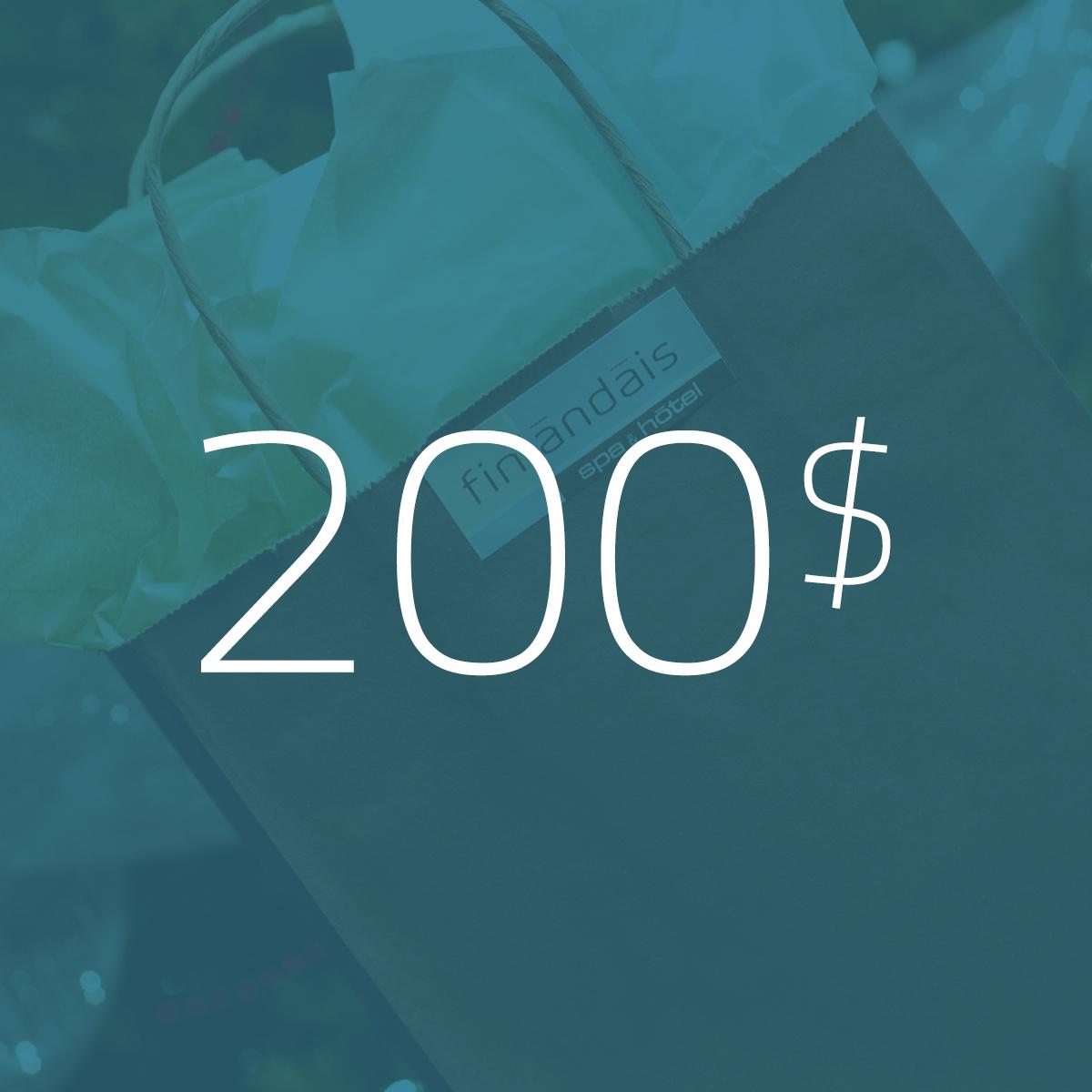 Les carte cadeau de 200$ du Finlandais