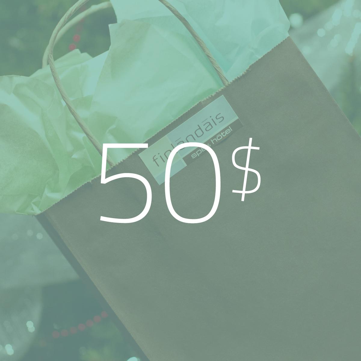 Les carte cadeau de 50$ du Finlandais